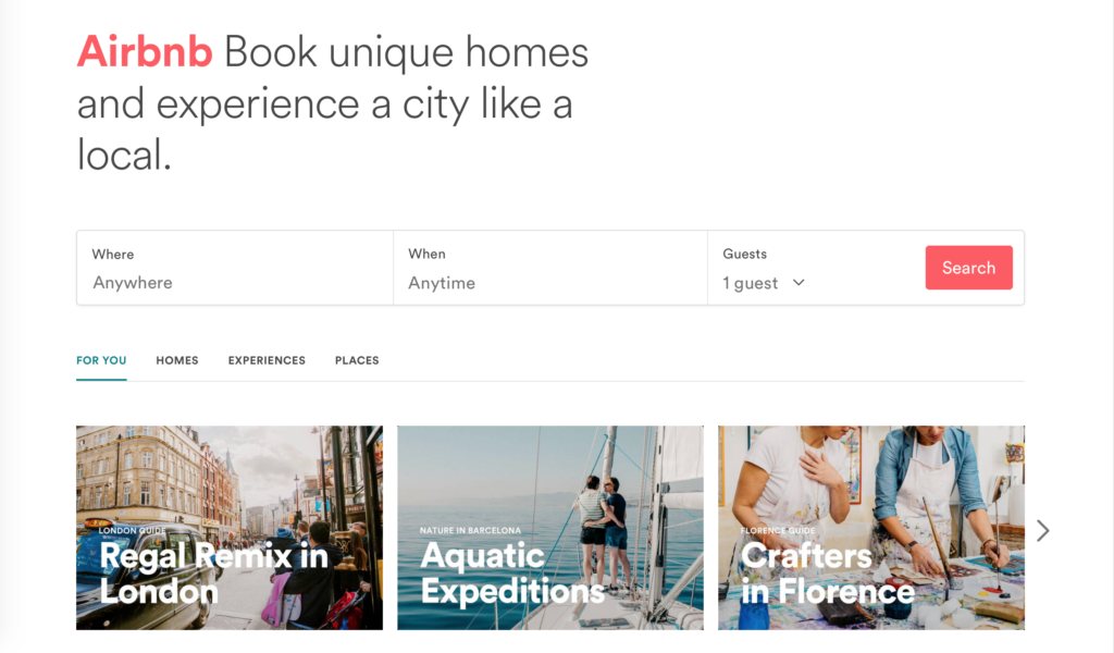 AirBnB Trips, experiences like a local not just a tourist